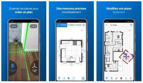 Captures d'écran de l'application magicplan sur Android