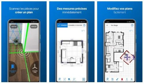 Captures d'écran de l'application magicplan sur Android